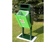 Steel dog waste bin LUISITO - A.U.ESSE