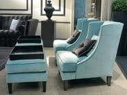 High-back upholstered fabric armchair VITTORIA | Armchair - SOFTHOUSE