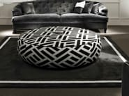 Upholstered fabric pouf BYRON - SOFTHOUSE