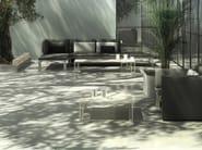 Square aluminium garden side table JIAN | Square coffee table - GANDIA BLASCO