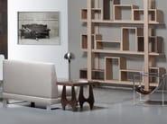 Low wood veneer side table BRAZILIA - AZEA