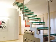 Glass and steel Open staircase 500 | Open staircase - Interbau Suedtirol Treppen