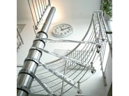 Helical glass and steel Spiral staircase 76 | Spiral staircase - Interbau Suedtirol Treppen