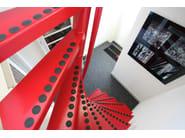 Square Spiral staircase 1m2 ® - Interbau Suedtirol Treppen