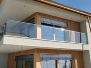 Glass Window railing Glass balustrade - Interbau Suedtirol Treppen