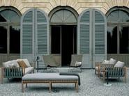 Wooden garden armchair with armrests MISTRAL | Garden armchair - RODA