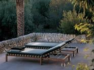Teak garden daybed with Casters MISTRAL | Garden daybed - RODA