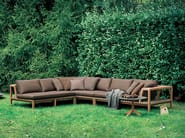 Sectional teak garden sofa NETWORK | Sofa - RODA