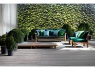 Low square garden side table INOUT 11 - Gervasoni