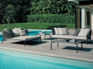 3 seater stainless steel garden sofa SPOOL | 3 seater sofa - RODA