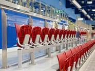 Beam seating with tip-up seats GATE | Beam seating - Mara