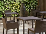 Square garden table INOUT 232 - Gervasoni
