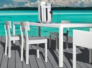 Rectangular garden table INOUT 233 - Gervasoni