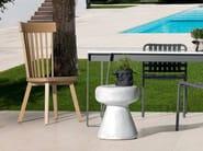Oak garden chair INOUT 721 - Gervasoni