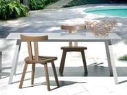 Oak garden chair INOUT 723 - Gervasoni