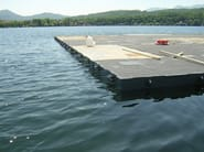 Bridge and modular pontoon JANSON COUPLE PONTOONS - JANSON BRIDGING ITALIA