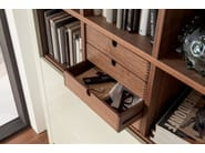 Open lacquered bookcase with drawers XELO | Lacquered bookcase - Hülsta-Werke Hüls