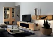 Low oak TV cabinet XELO   TV cabinet - Hülsta-Werke Hüls