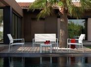 Textilene garden bench with armrests TOUCH | Garden bench - Talenti