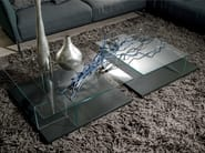 Low square glass coffee table CT 160 | Square coffee table - Hülsta-Werke Hüls