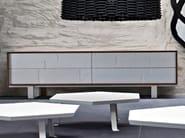 Walnut sideboard with drawers SWEET 64 - Gervasoni