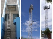Fire escape staircase / Metal fire escape staircase Hooped ladder - SVELT