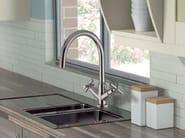 Classic style 2 hole wall-mounted bridge tap CUCINA TRADIZIONALE | Kitchen tap - Giulini G. Rubinetteria