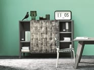 Fabric highboard with doors BRICK 67 - Gervasoni