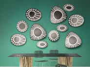Wall-mounted round mirror BRICK 99 - Gervasoni