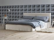 Double bed with upholstered headboard BRICK 80 | Double bed - Gervasoni