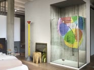 Shower cabin with digital printing on glass SINTESI DIGITAL PRINT - VISMARAVETRO
