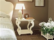 Square solid wood bedside table LEEDS | Bedside table - Minacciolo