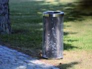 Outdoor steel waste bin AEROPORTO - mmcité 1