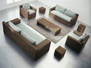 Rattan coffee table / garden pouf CROCO 11 - Gervasoni