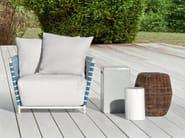 Rattan coffee table / garden pouf CROCO 13 - Gervasoni