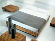 Double bed in handwoven dark pulut NET 80   Double bed - Gervasoni