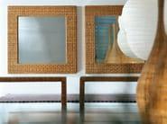 Bench in handwoven dark pulut NET 17 - Gervasoni