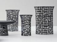 Round steel coffee table in handwoven steel plate IRONY | Coffee table - Gervasoni