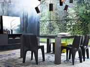 Square marble table DOLMEN DUE | Marble table - Poliform