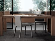 Rectangular wood veneer table DOLMEN DUE | Rectangular table - Poliform
