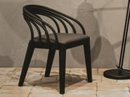 Contemporary style upholstered wooden guest chair with armrests LOOP - Very Wood