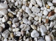 Natural stone decorative pebbles WHITE QUARTZ - GRANULATI ZANDOBBIO