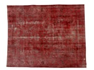 Vintage style handmade rectangular rug DECOLORIZED RED - Golran