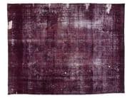 Vintage style handmade rectangular rug DECOLORIZED PURPLE - Golran