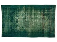 Vintage style handmade rectangular rug DECOLORIZED TURQUOISE - Golran