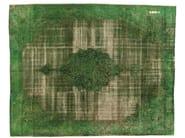 Vintage style rectangular rug DECOLORIZED GREEN - Golran