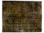 Vintage style handmade rectangular rug DECOLORIZED DARK YELLOW - Golran