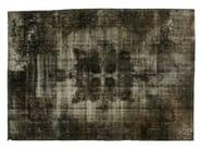 Vintage style handmade rectangular rug DECOLORIZED GREY - Golran