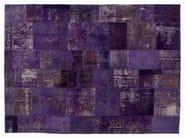 Vintage style patchwork rug PATCHWORK PURPLE - Golran