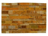 Vintage style patchwork rug PATCHWORK RESTYLED YELLOW - Golran